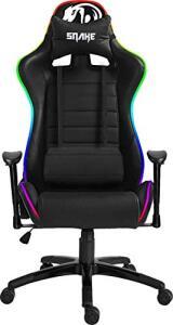 Cadeira Gamer Coral Snake Gaming Reclinável RGB - LED Preto com LED - R$1354