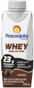 [PRIME] [5 unid.] Whey Zero Lactose Sabor Cacau Piracanjuba 250ml R$3,33
