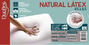 Travesseiro Natural Látex, 45x65x13cm, Duoflex   R$111
