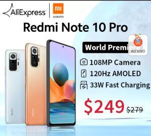 Smartphone Redmi note 10 pro 128gb 6gb | R$1516