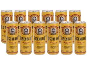[APP + MAGALUPAY] Cerveja Eisenbahn Pilsen 12 Unidades - 350ml | R$36