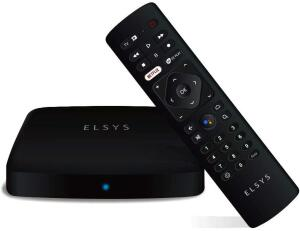 Receptor de TV Via Internet Streaming Box Elsys, Android TV - ETRI02, 4K e Conversor de TV Digital R$384