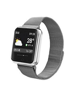 Relógio Smartwatch Smartband Android Iwo iPhone Samsung Moto P68 (Prateado) | R$239