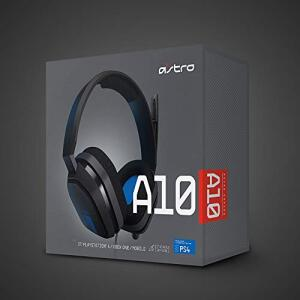 Headset Astro Gaming A10 Para Playstation, Xbox, Pc, Mac - Preto/Azul | R$399