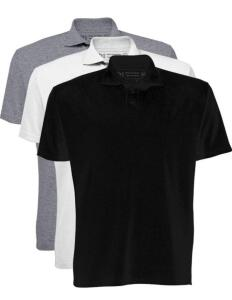 Prime Kit 3 Camisetas Polo, Basicamente, Masculino | R$60
