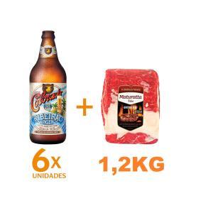 Kit 6 Cervejas Colorado Ribeirão Lager 600ml + Entrecote Filé Costela Bovino Maturatta Friboi 1,2kg | R$64