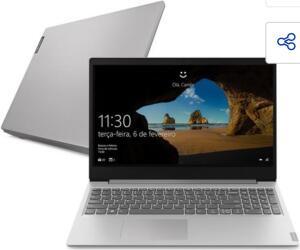"Notebook Lenovo AMD Ryzen 5-3500U 8GB 1TB Tela 15.6"" Windows 10 Ideapad S145 | R$3034"