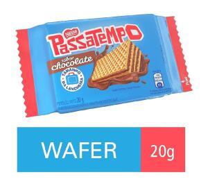 [Prime + recorrência] Biscoito, Mini Wafer, Chocolate, Passatempo, 20g | Min.5 | R$0,62