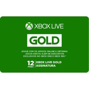 Gift Card Digital Xbox Live 12 Meses | R$ 160