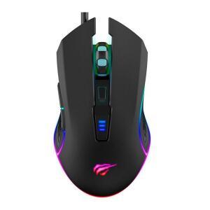 Mouse Gamer Havit MS1018 RGB, 6 Botões, 3200 DPI, Black | R$ 46