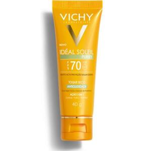 [AME R$ 43] Protetor Solar Facial Vichy Idéal Soleil Purify FPS70 40g | R$ 86