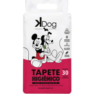 Tapete Higiênico K Dog 30 unids - R$19