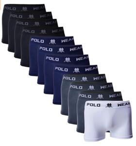 Kit 12 Cuecas Boxer, Polo Wear, Masculino | R$110