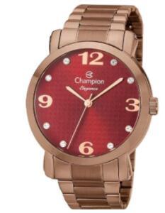 Relogio Champion Feminino Chocolate Visor Vinho Cn26279v | R$212