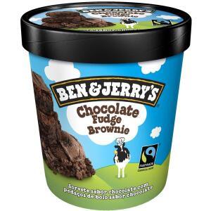 Sorvete de Chocolate Fudge Brownie BEN&JERRYS Pote 458ml - R$ 29
