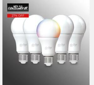 Kit 5 Lâmpadas inteligente i2go | R$ 322,91