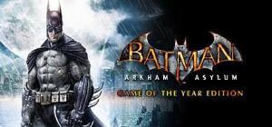 Jogo Batman: Arkham Asylum Game of the Year - PC Game Steam | R$8