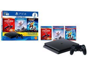PlayStation 4 Mega Pack 1TB 1 Controle Preto - com 3 Jogos PS Plus 3 Meses - R$2422