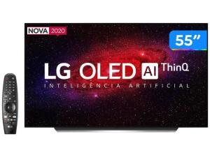 """Smart TV 4K OLED 55"""" LG OLED55CXPSA - R$5367"""