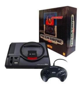 Console Mega Drive Tec Toy + 1 Controle + 22 Jogos na Memória | R$ 300