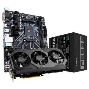 Kit Placa de Vídeo Asus TUF3 NVIDIA GeForce GTX 1660 SUPER + Fonte Gigabyte GP-P550B 550W + Placa-Mãe Gigabyte B450M S2H   R$3200