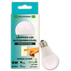 Lâmpada Led Autodimerizável - Luz Fria - City Lumi   R$4,99