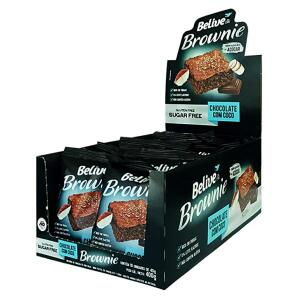 Brownie de Chocolate com Coco Belive Sem Açúcar/Glúten/Lactose 40g - 10 unid   R$22