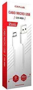 [PRIME] Cabo USB-Micro USB C3PLUS 2M 2A Branco | R$10