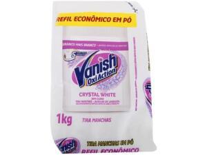 Tira Manchas Vanish Oxi Action Crystal White em Pó sem Cloro Refil 1Kg   R$13