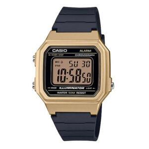 Relógio Unissex Digital Casio W-217HM-9AV - Preto/Dourado | R$79