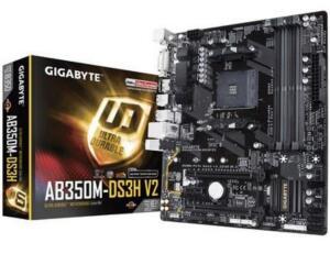 Placa-Mãe Gigabyte GA-AB350M-DS3H V2, AMD AM4, mATX, DDR4 | R$440