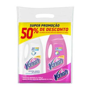 Kit Vanish Multiuso 1,5L + Crystal White 1,5L | R$15