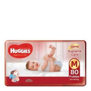 Kit 3 Fralda Huggies Supreme Care M 80 Unidades   R$85