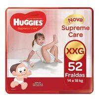 Kit 3 Fralda Huggies Supreme Care XXG 52 Unidades   R$85
