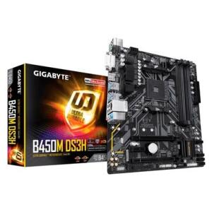 Placa-Mãe Gigabyte B450M DS3H V2, AMD B450, mATX, DDR4, (rev. 1.0) R$570