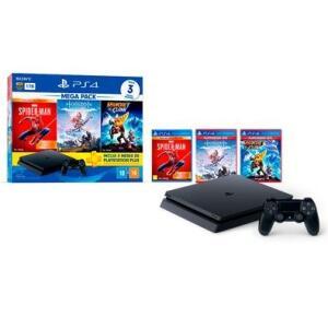 PlayStation 4 Mega Pack 15, 1TB, Horizon Zero Dawn Complete Edition + Marvel's Spider-Man + Ratchet & Clank   R$2.350