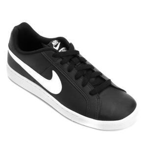 Tênis Couro Nike Court Royale Masculino - Preto e Branco   R$120
