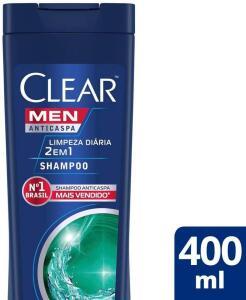 PRIME|Shampoo Anticaspa Clear Men Limpeza Diária 2 em 1 400 Ml - R$15