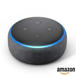 Smart Speaker Amazon com Alexa Preto - ECHO DOT - R$225