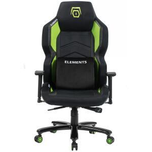 Cadeira Gamer Elements Magna TERRA, Reclinável, Black-Green R$1.599