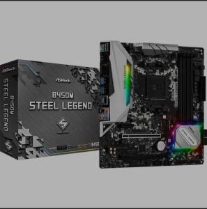 Placa Mãe ASRock B450M Steel Legend, Chipset B450, AMD AM4 | R$ 689