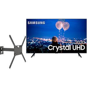 Samsung Smart TV 50'' Crystal UHD 50TU8000 4K + Suporte Biarticulado com inclinação M2 R$2599