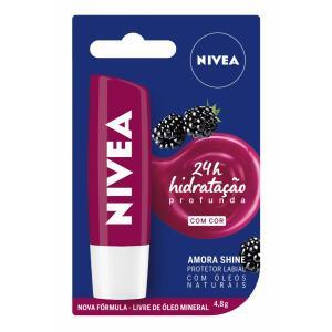 Protetor Labial Nivea Amora Shine 4,8g R$9