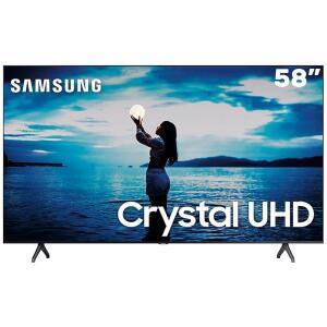 "Smart TV LED 58"" UHD 4K Samsung 58TU7020 Crystal UHD, HDR, Design Sem Limites, Controle Remoto Único, Livre de Cabos, Bluetooth R$2649"