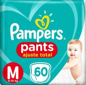(3 Pacotes) Fralda Pampers Pants Ajuste Total M 60 unidades | R$86