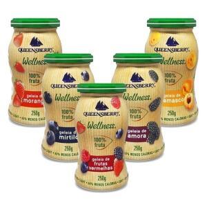 Kit Com 5 Geléias 100% fruit - Queensberry   R$ 93