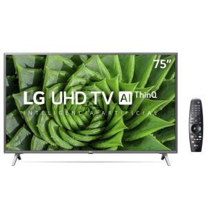 """TV Led 75"""" LG ThinQ AI 4k HDR R$4999"""