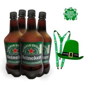Chopp Heineken Ste Patricks - Compre 4 Litros Chopp Heineken e Ganhe 1 Cartola e 1 Suspensório R$55