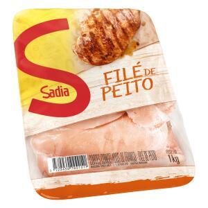 Filé de Peito de Frango Congelado SADIA Bandeja 1kg R$10