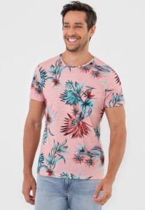 Camiseta Colcci Floral Rosa | R$ 115